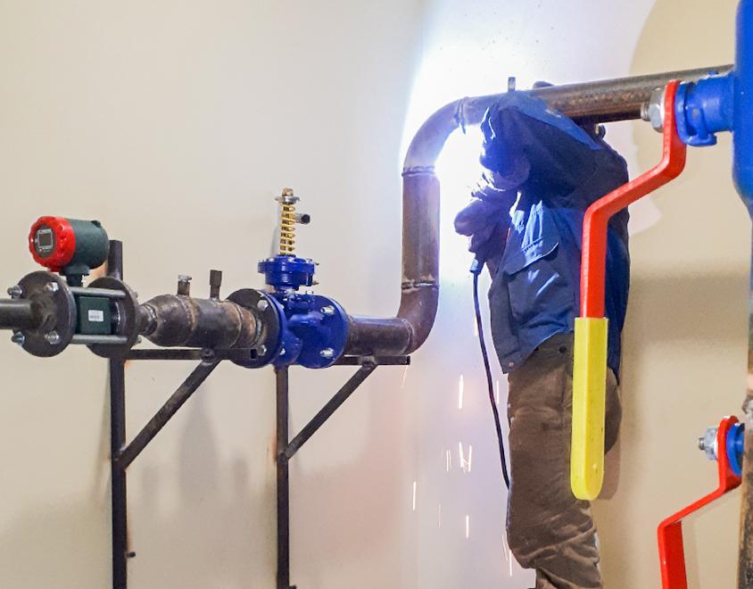 Сварка – узел ввода тепловой сети в дом
